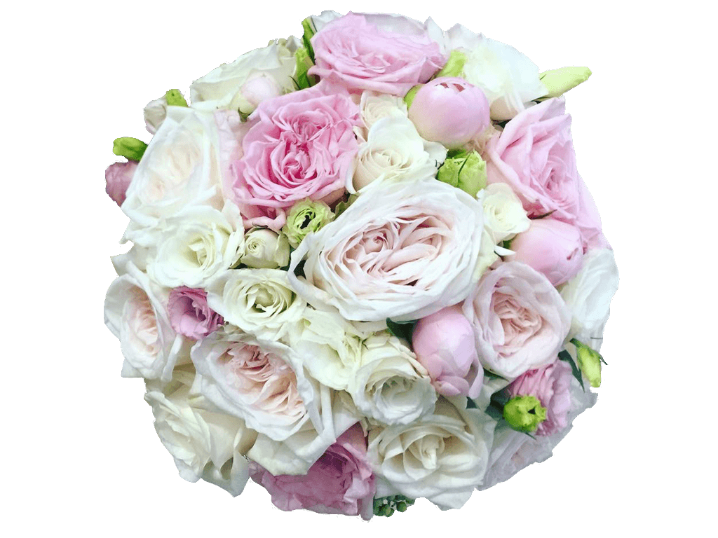 white wedding flowers png