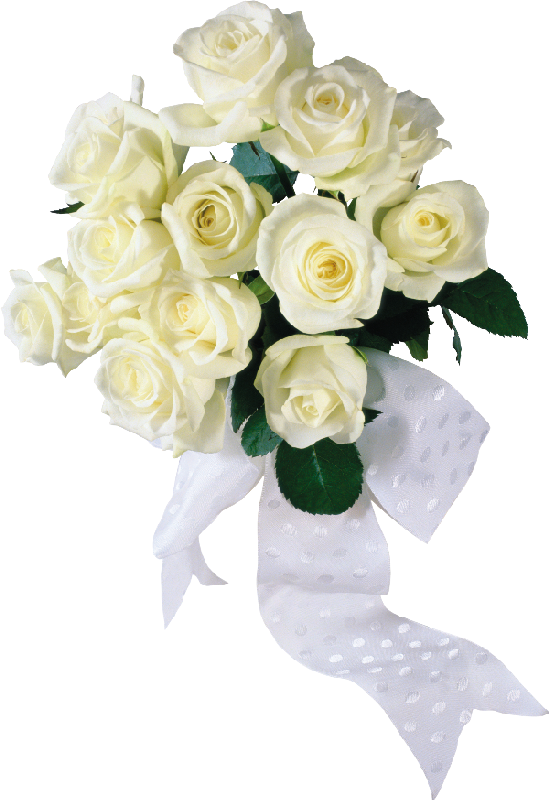 White wedding flowers png. Image with transparent background