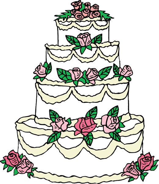 wedding cake clipart png black and white