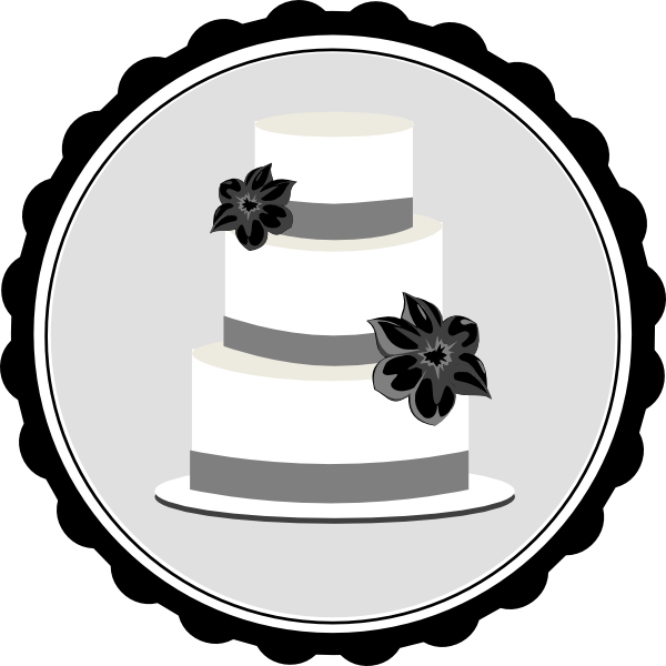 Wedding cake clipart png black and white. Clip art at clker