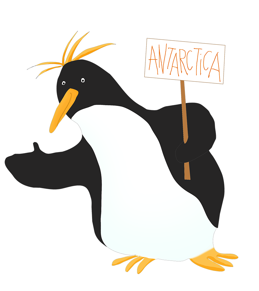 macaroni drawing penguin