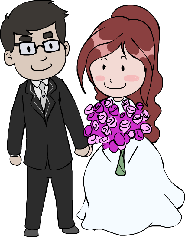 Wedding couple cartoon png. By robewan pinterest couples