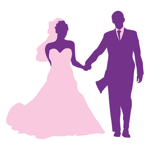 Wedding couple silhouette png. Happy transparent svg vector