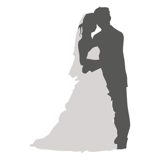 Wedding couple silhouette png. Romancing transparent svg vector