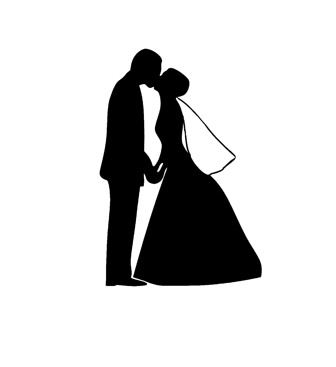 Wedding couple silhouette png. Image arts