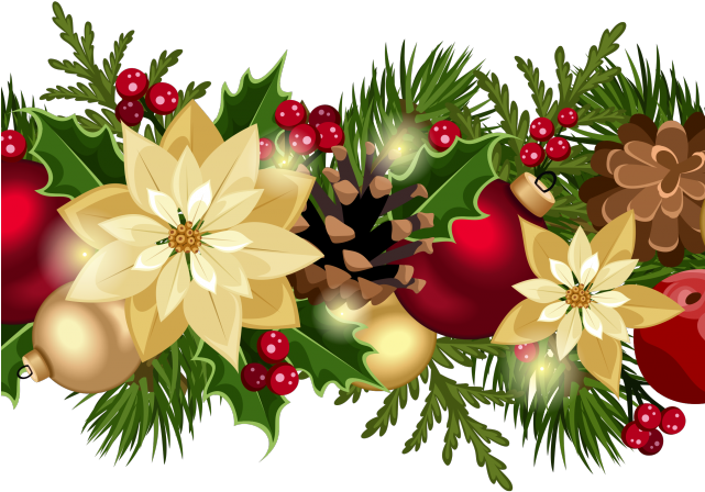 Christmas Top Border.Poinsetta Clip Top Border Transparent Png Clipart Free