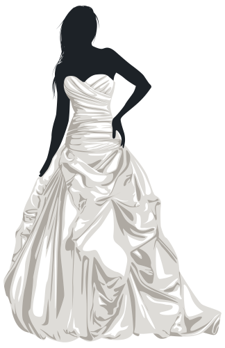 Wedding dress clipart png. Silhouette clip art at