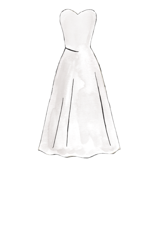 Wedding dress silhouette png. Guide styles shapes david