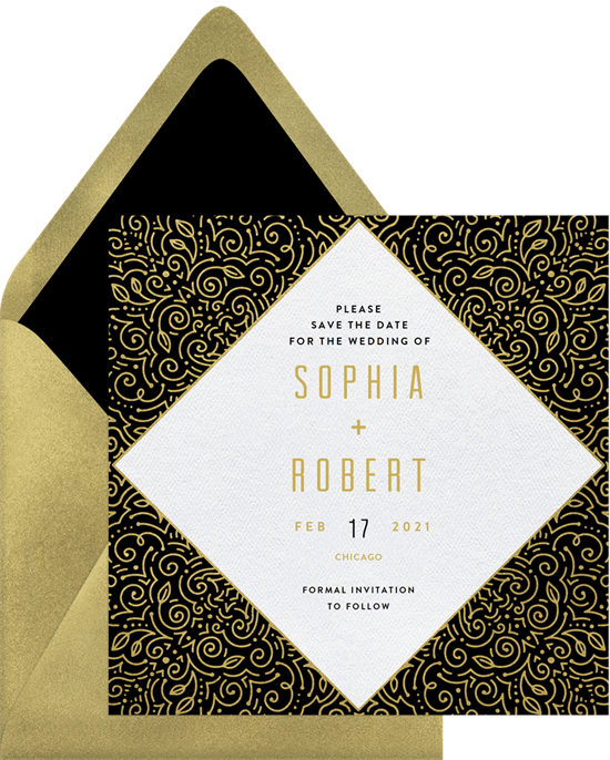 Wedding filigree png. Fancy save the dates