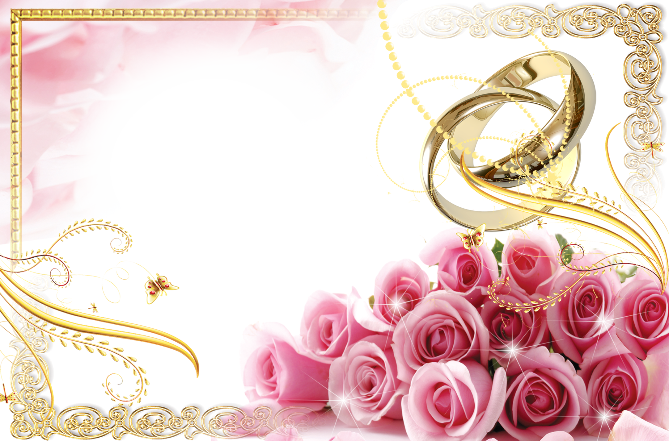 Wedding frames png free download. Transparent frame with rings