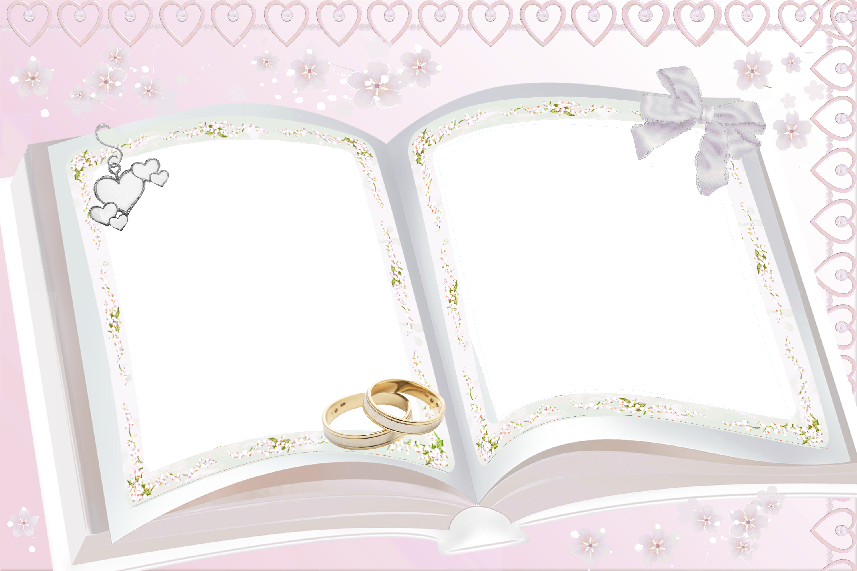 Transparent Pink Wedding Frame