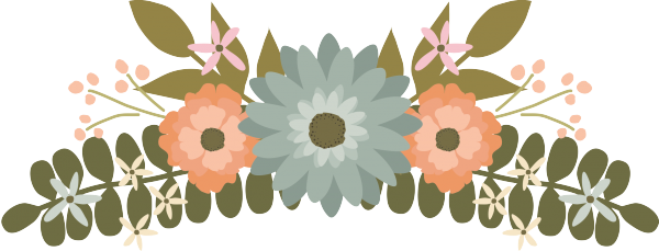 Transparent grave flower clipart. Floral wedding graphics clip