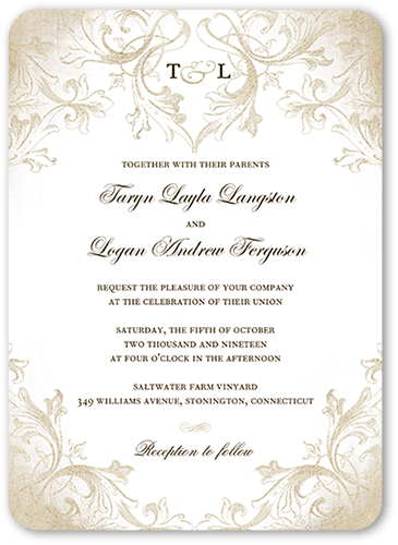 Wedding invitations png. Faded scroll x shutterfly