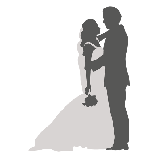 bride and groom silhouette png