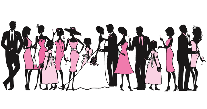 Wedding party silhouette png. Entertainment greetham valley weddings