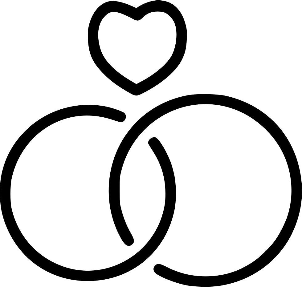 Wedding ring icon png. Rings love heart svg