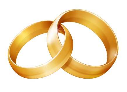 Linked wedding free images. Rings clipart transparent download