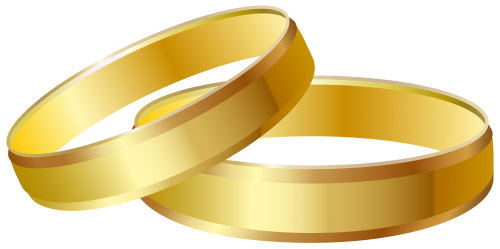 Wedding rings clipart png. Gold clip art best