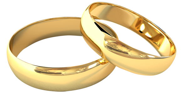 Wedding rings png without background. Image with transparent