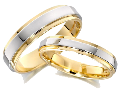 silver wedding rings png