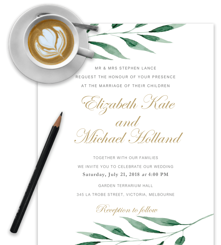 Wedding templates png. Invitation in word for