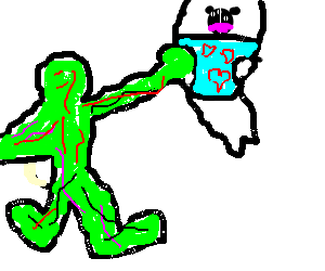 Wedgie drawing. Inside out hulk gives