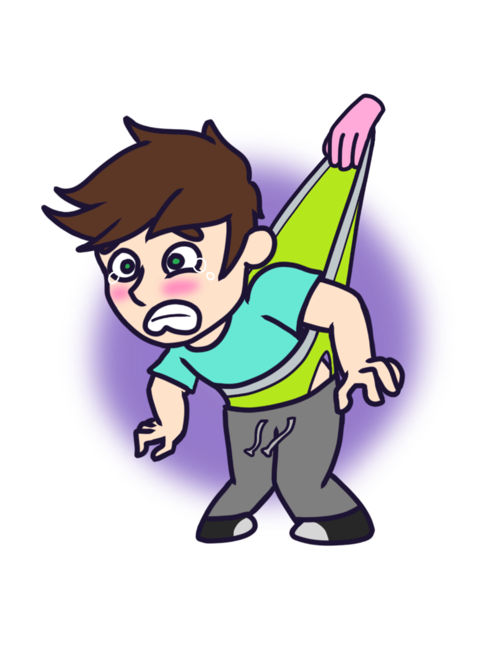 Deviantart beast boy transprent. Wedgie drawing relationship vector royalty free