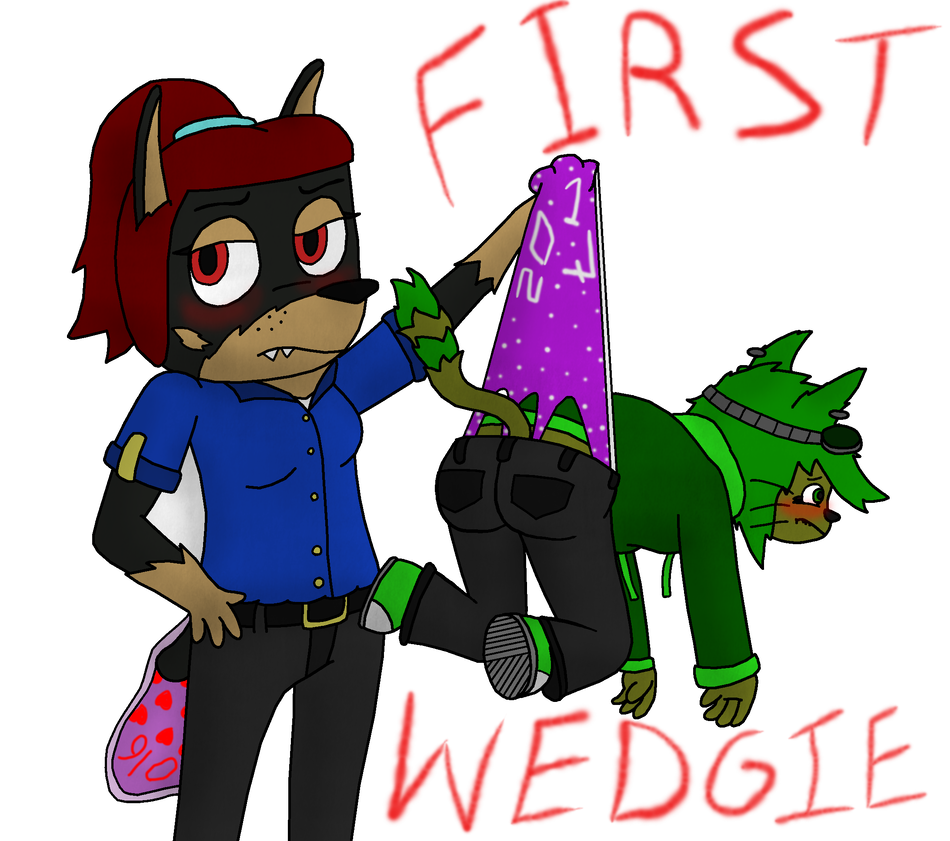 Wedgie drawing cartoon. First of by cj