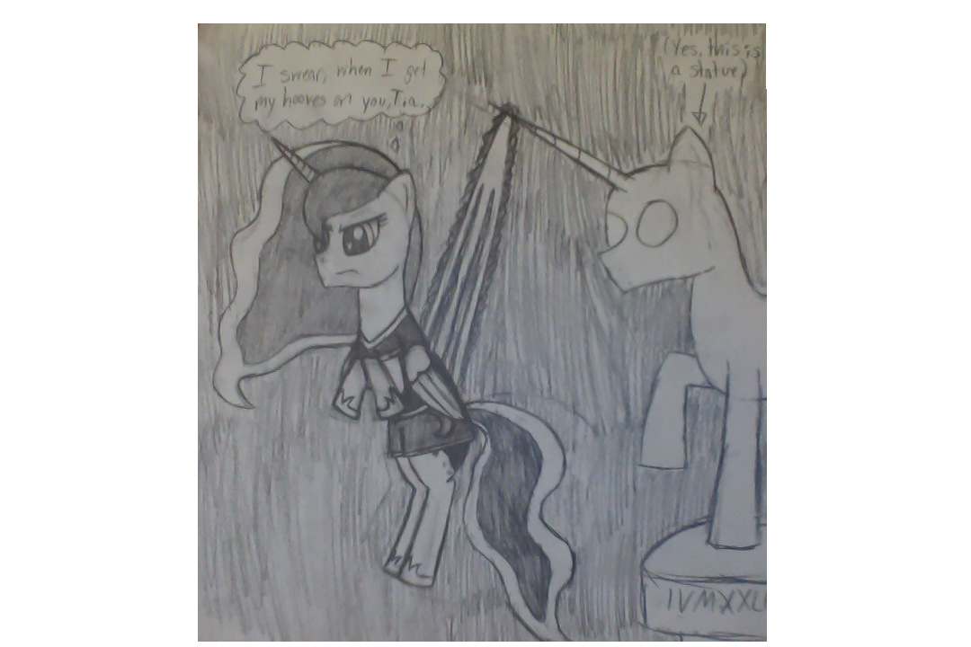 Wedgie drawing flagpole. Luna by radicool on