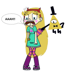 Wedgie drawing drawn. Bill cipher wedgies star
