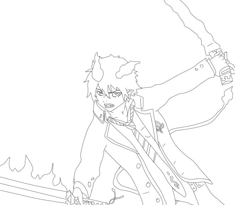Wedgie drawing rin. Ao no exorcist okumura