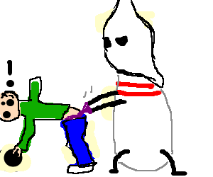 Wedgie drawing simple. Bowling pin kkk gives
