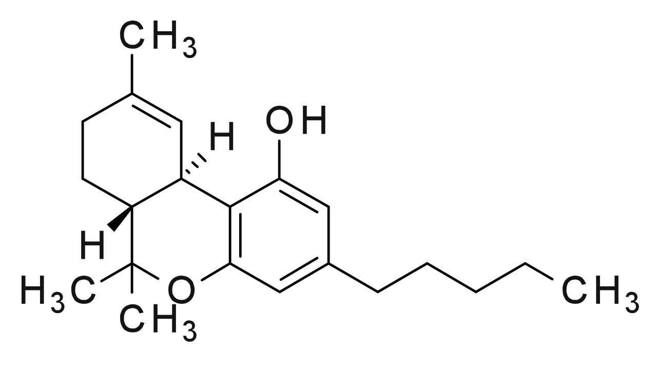 Weed svg png white. File thc structure wikimedia