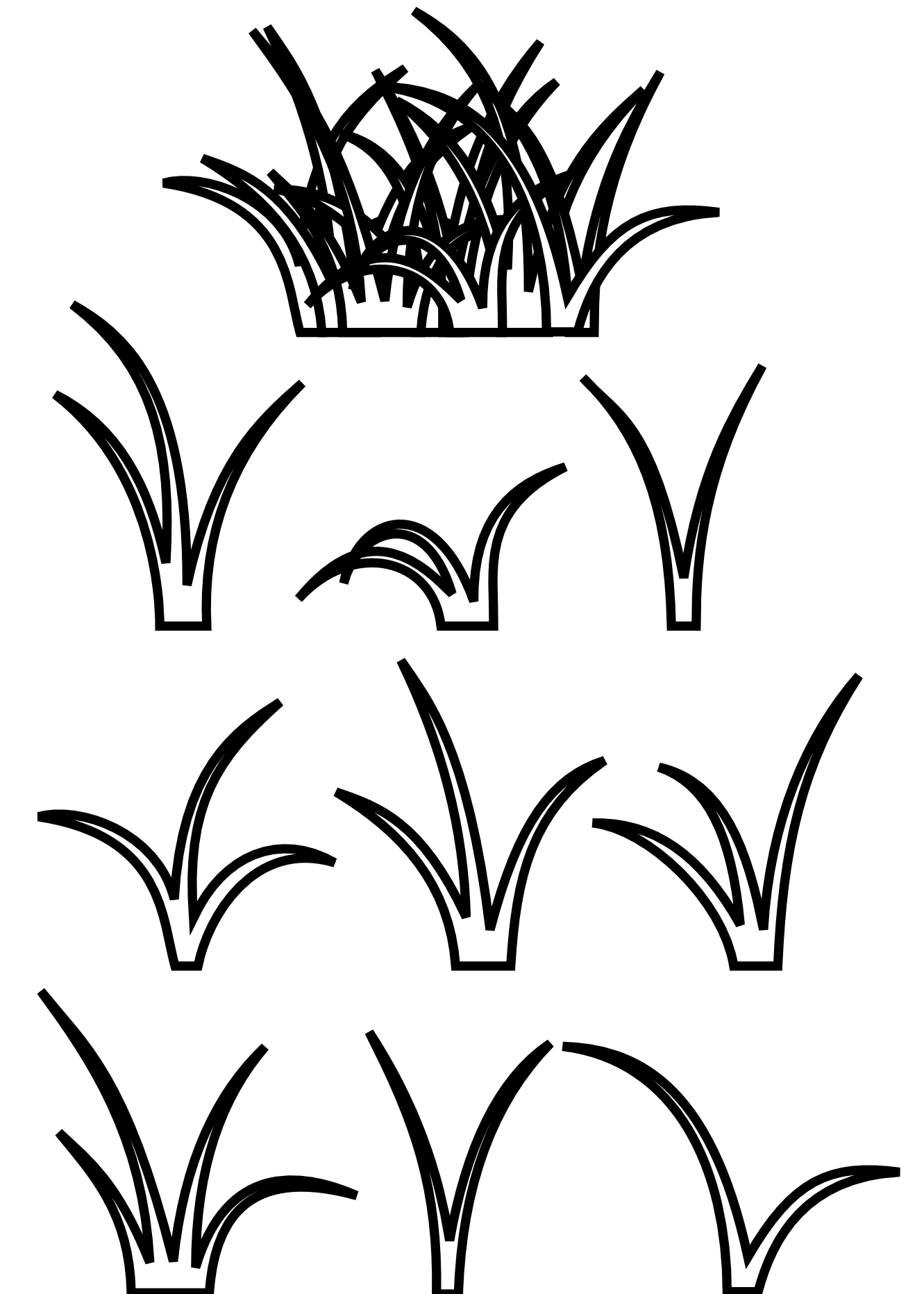 Weeds drawing imagination. Grass black white line