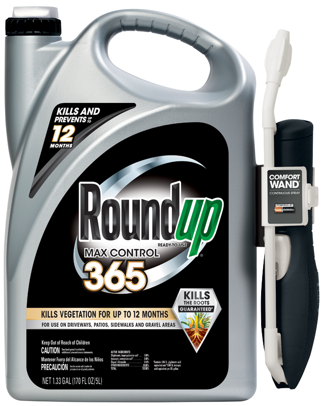 Weeds drawing money. Weed control roundup ready