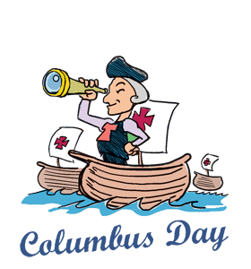 Columbus clipart discoverer. Happy weekend day calendar
