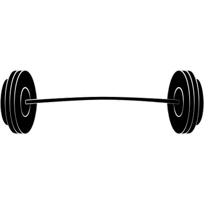 Barbell transparent weightlifting. Weights clipart png stickpng
