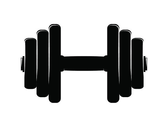 Weights clipart strenght. Dumbbell equipment lifting strength