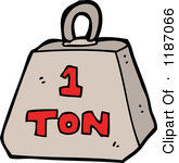 weights clipart 1 ton