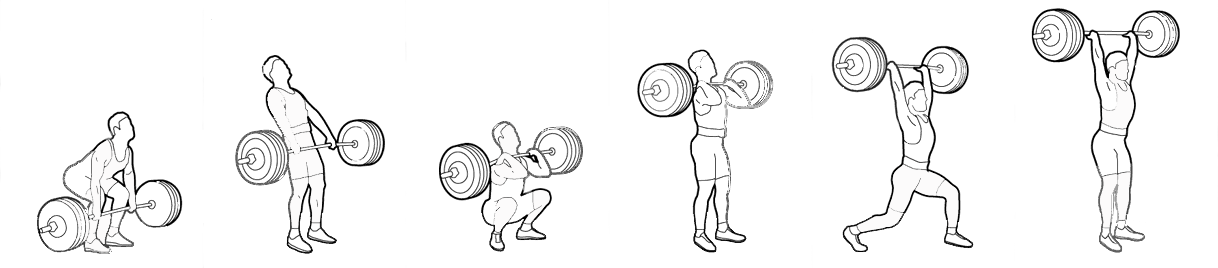 Weightlifter drawing clean. Olympic lifts canadian masters