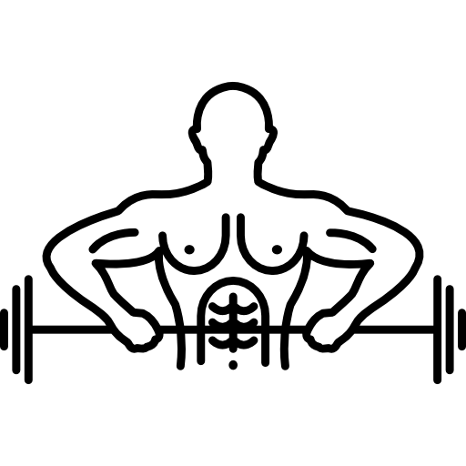 Weightlifter drawing sport man. Male outline carrying a