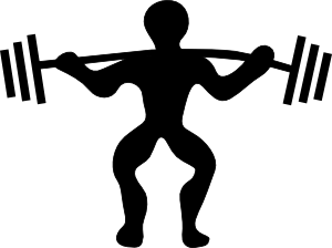 Weightlifting clipart lifted. Cartoon weight lifting clip