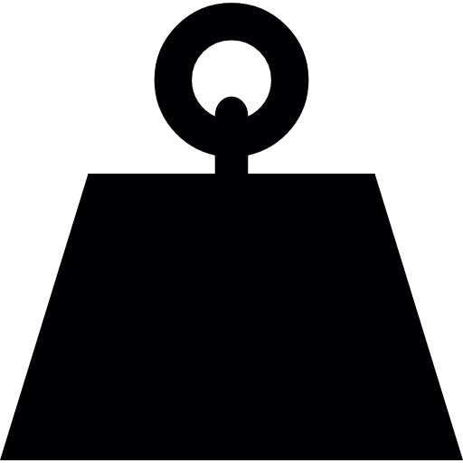 Weights svg bell. Or weight of trapezoidal