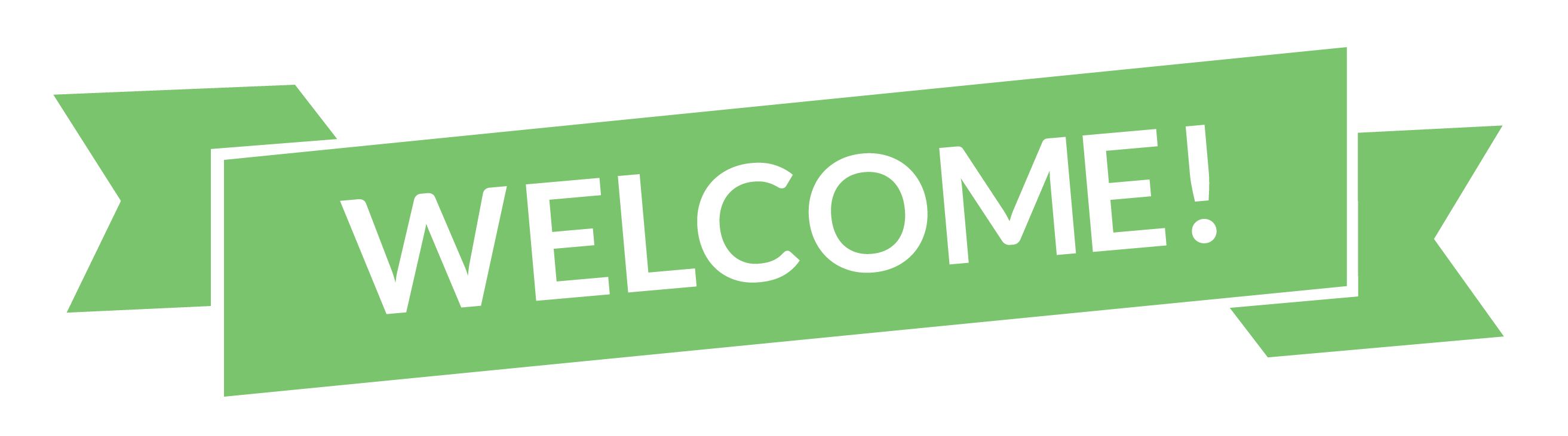 Welcome banner png. Green transparent stickpng download