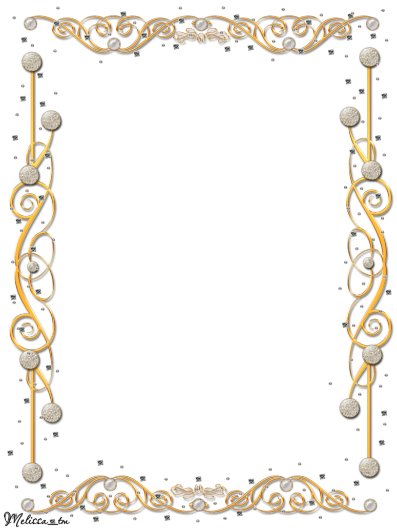 Frame borders png. Golden with gems by
