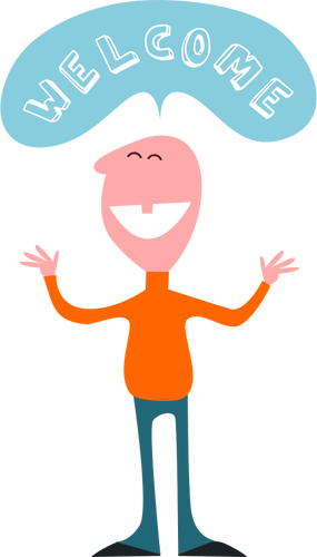 Welcome clipart. Saying