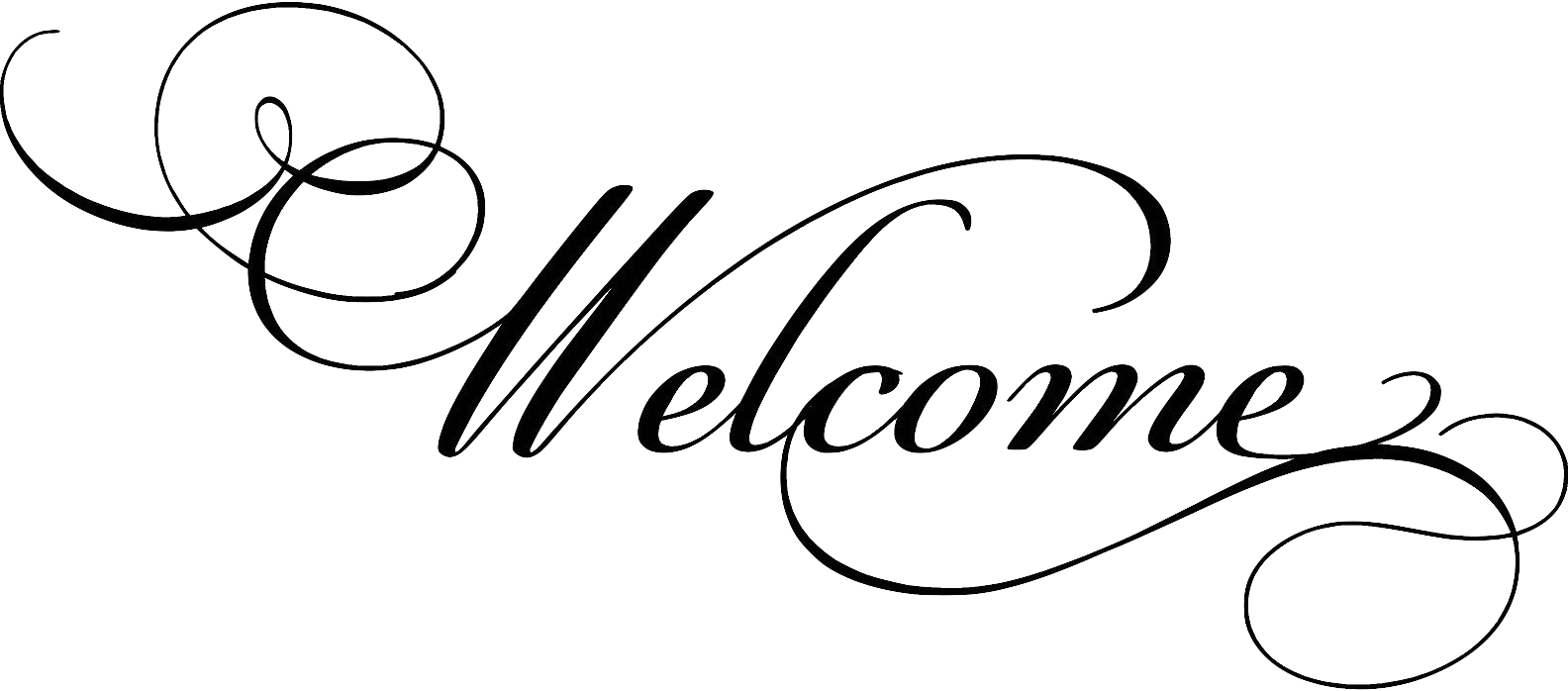 transparent welcome cursive