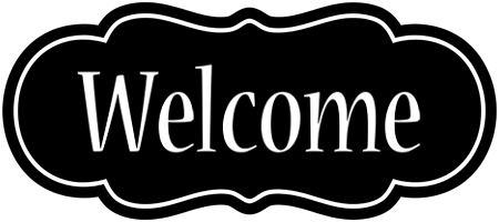 Transparent welcome black. Sign png images in