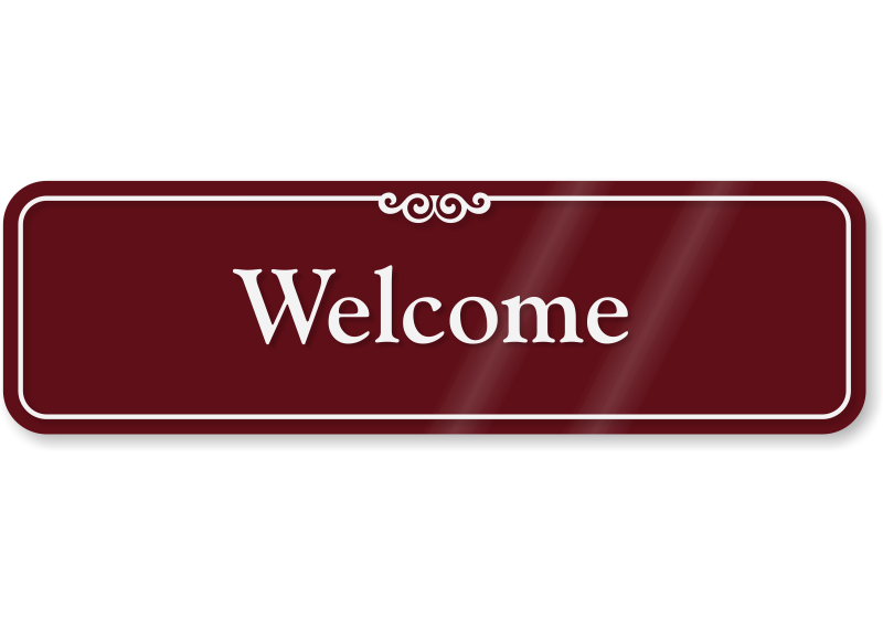 Welcome sign png. Showcase wall mydoorsign com