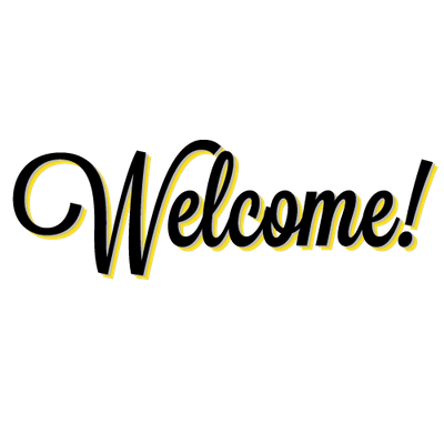 Welcome sign png. Transparent stickpng old school